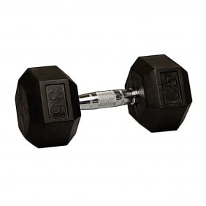 G Fitness Rubber Encased Hex Dumbbell 35 lb