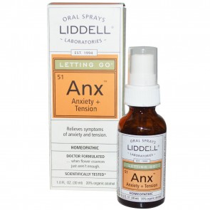 Liddell Laboratories - Anx Letting Go Anxiety + Tension Homeopathic Oral Spray - 1 oz