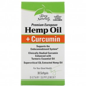 Terry Naturally Hemp Oil + Curcumin 30 Softgels