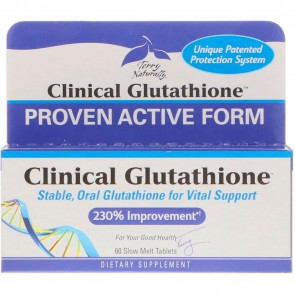 Terry Naturally Clinical Glutathione 60 Slow-Melt Tablets
