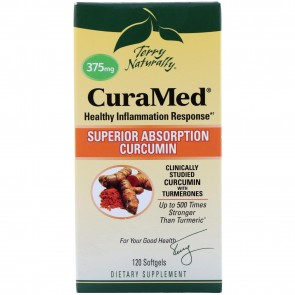 Terry Naturally CuraMed Super Absorption Curcumin 120 Softgels (375mg)