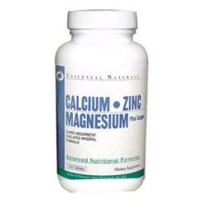 Calcium Magnesium Zinc 100 Tablets by Universal Nutrition