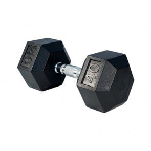 G Fitness Rubber Encased Hex Dumbbell 40 lb