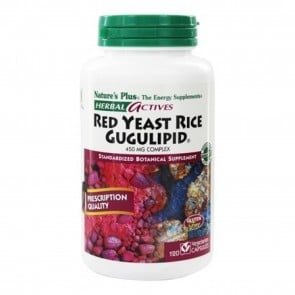 Natures Plus Herbal Actives Red Yeast Rice Gugulipid Complex | Herbal Actives Red Yeast Rice Gugulipid Complex
