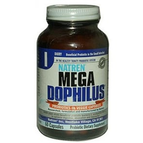 Natren Mega Dophilus 60 Vegetable Capsules