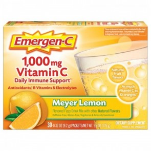 Emergen-C 1,000mg Vitamin C Meyer Lemon 30 Packets