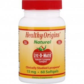 Healthy Origins Natural Lyc-O-Mato 15mg 60 Softgels