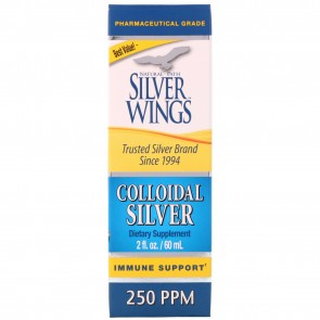 Natural Path Silver Wings Colloidal Silver 250 PPM 2 fl oz (Dropper)