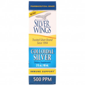 Natural Path Silver Wings Colloidal Silver 500 PPM 2 fl oz (Dropper)