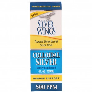 Natural Path Silver Wings Colloidal Silver 500 PPM 4 fl oz (Dropper)