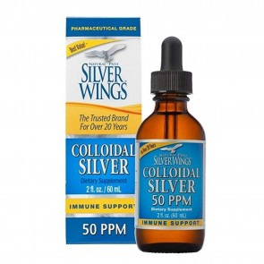 Natural Path Silver Wings Colloidal Silver 50 PPM 2 fl oz (Dropper)