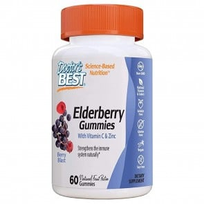 Doctors Best Elderberry Gummies Berry Blast 60 Gummies