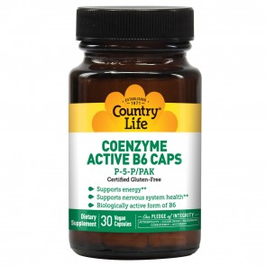 Country Life Coenzyme Active B-6 50 Mg 30 Vegicaps