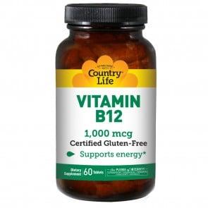 Country Life Vitamin B-12 1000 Mcg 60 Tablets