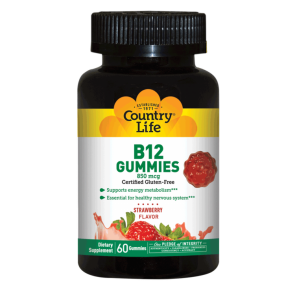 B12 Gummies Strawberry 60 Gummies | Country Life B12 Strawberry Gummies