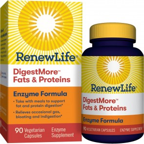 Renew Life DigestMore Fats & Proteins Enzyme Formula 90 Vegetarian Capsules