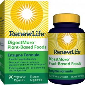 Renew Life DigestMore Plant Based Foods 90 Vegetarian Capsules
