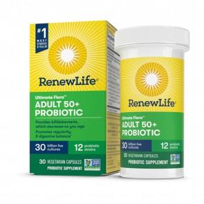 Renew Life Ultimate Flora Probiotic Adult 50+ Probolic 30 Billion 30 Capsules