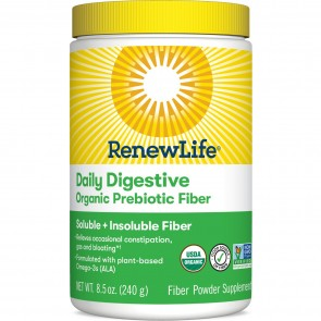 Renew Life Daily Digestive Organic Prebiotic Fiber 8.5 oz