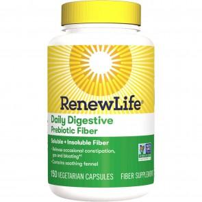 Renew Life Daily Digestive Prebiotic Fiber 150 Vegetarian Capsules