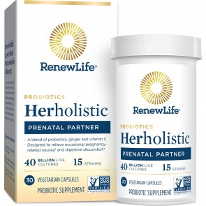 Renew Life Herholistic Prenatal Partner 30 Vegetarian Capsules