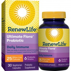Renew Life Ultimate Flora Probiotic 25 Billion 30 Vegetable Capsules