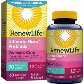 Renew Life Ultimate Flora Probiotic Women's Care 90 Billion 60 Vegetable Capsules
