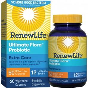 Renew Life Extra Care Ultimate Flora Probiotic 50 Billion 60 Vegetable Capsules