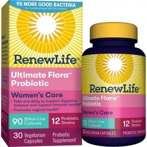 Renew Life Women's Complete Ultimate Flora Probiotic 90 Billion 30 Vegetable Capsules