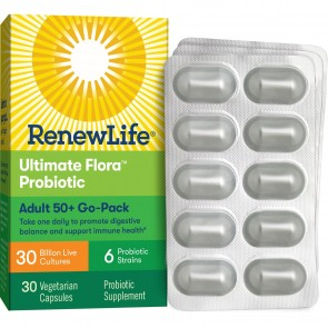 Renew Life Adult 50+ Probiotic Ultimate Flora™ Go Pack 30 billion 30 Vegetable Capsules