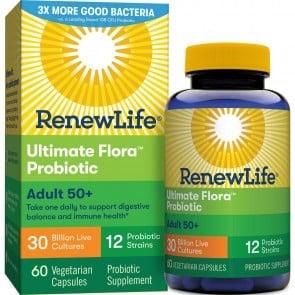 Renew Life Adult 50+ Ultimate Flora Probiotic 30 Billion 60 Vegetable Capsules