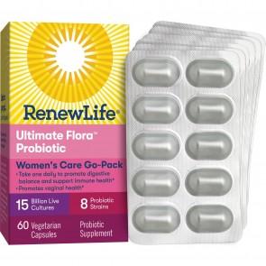 Renew Life Women's Care Ultimate Flora Probiotic 15 Billion Go Pack 60 Vegetable Capsules