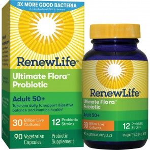 ReNew Life Adult 50+ Ultimate Flora Probiotic 30 Billion 90 Vegetable Capsules