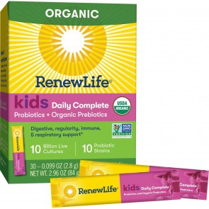 Renew Life Kids Daily Complete Probiotics + Prebiotics Unflavored 30 Packets