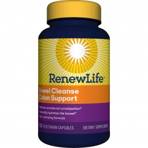 Renew Life Bowel Cleanse Colon Support 150 Vegetarian Capsules