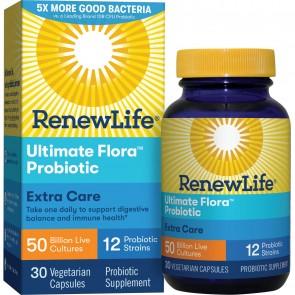 Renew Life Ultimate Flora Probiotic Extra Care 50 Billion 30 Vegetable Capsules