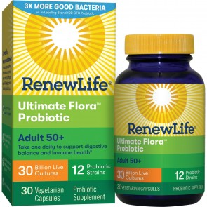 Renew Life Ultimate Flora Probiotic Adult 50+ 30 Billion 30 Capsules