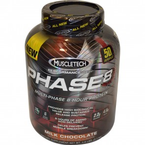 Muscletech Phase 8 Hour Protein Milk Chocolate 4.6 lbs (50 servings)