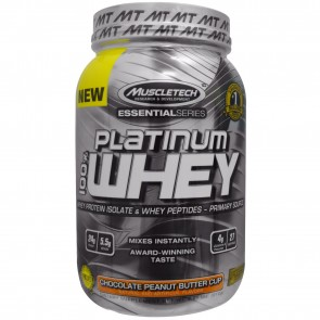 MuscleTech Platinum 100% Whey Chocolate Peanut Butter Cup 2 lbs
