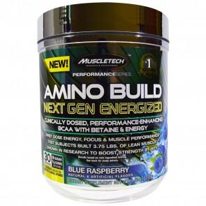 MuscleTech Amino Build Next Gen Energized Blue Raspberry 30 Servings