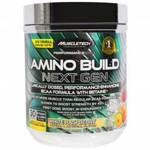 MuscleTech Performance Series Amino Build Next Gen White Raspberry 30 Servings