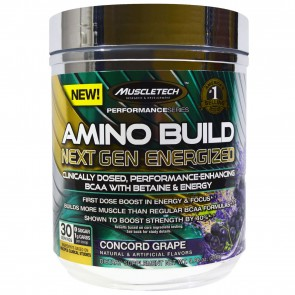MuscleTech Amino Build Next Gen Energized Concord Grape 30 Servings