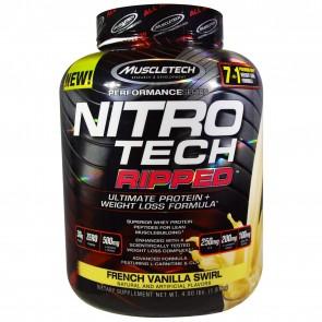 Muscletech Nitro Tech Ripped French Vanilla Swirl 4 lbs