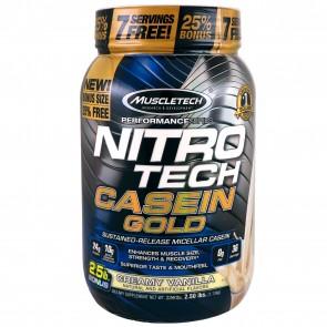 MuscleTech Nitro Tech Casein Gold Creamy Vanilla 2 lbs | Nitro Tech Casein Gold Creamy Vanilla 2 lbs