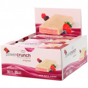 Power Crunch Original Wild Berry Crème 12 Protein Bars