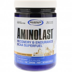 Gaspari Nutrition Aminolast Orange Mango Twist 30 Servings