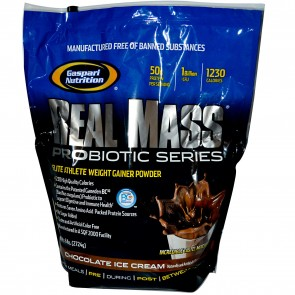 Gaspari Nutrition Real Mass Probiotic Chocolate Ice Cream 6 lbs