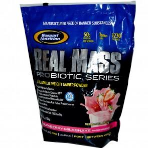 Gaspari Nutrition Real Mass Probiotic Strawberry Milkshake 6 lbs