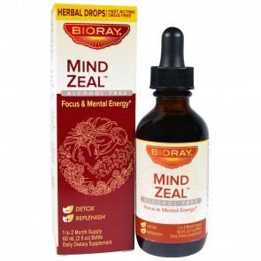 BioRay, Mind Zeal, Focus & Mental Energy, Alcohol Free, 2 fl oz (60 ml)