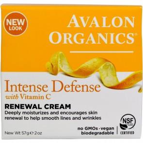 Avalon Organics, Vitamin C Renewal Cream, 2 oz (57 g)